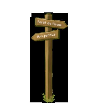 Flèche panneau signalétique touristique balisage randonnée bois AD production sentier parcours